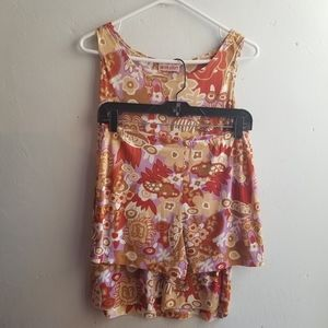 Vintage Jungle Print Short and Tank Set